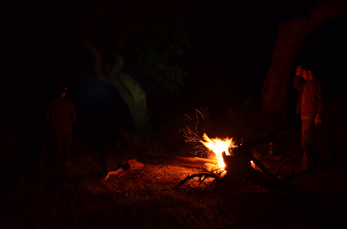 Camping between Kenya and Tanzania