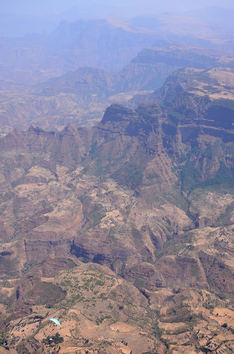 paragliding over Simien mountains, Ethiopia